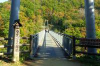 七ヶ宿やまびこ吊橋8