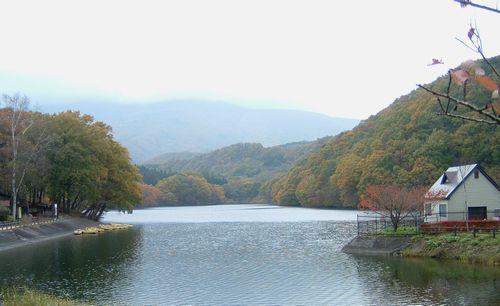 七ヶ宿吊橋長老湖2