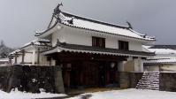 雪の白石城5大手門
