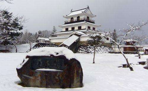 雪の白石城6