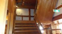 雪の白石城13階段