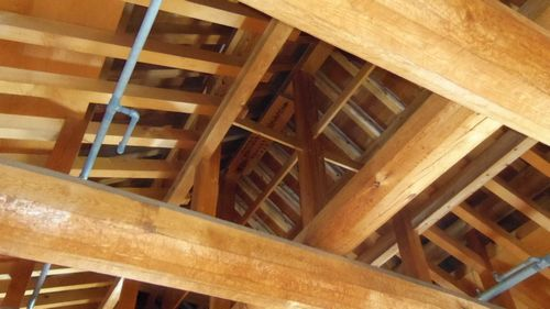 雪の白石城18天井