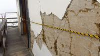雪の白石城20地震被害