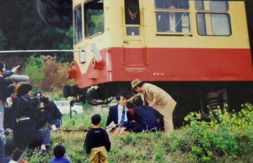 くりでん若柳駅18映画ロケ
