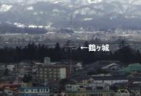 会津若松飯盛山17鶴ヶ城遠望