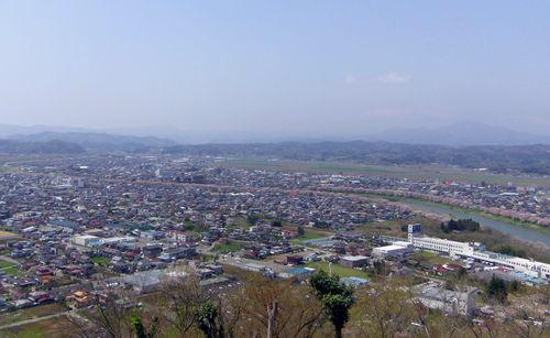 桜2012船岡城跡公園15頂上