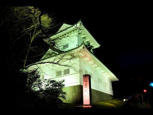 仙台青葉城夜景2脇櫓