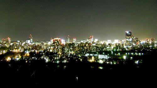 仙台青葉城夜景6仙台市街