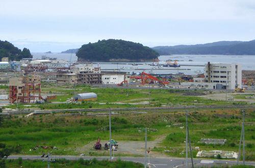南三陸町志津川5町の眺望