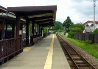 陸羽東線有備館駅3ホーム