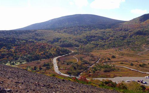 紅葉2012磐梯吾妻スカイライン26蓬莱山と浄土平湿原