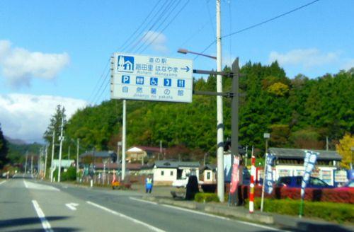 国道398号紅葉の花山峠3道の駅はなやま