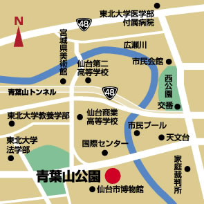 map青葉山