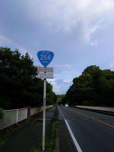 雨上がりの虹 011