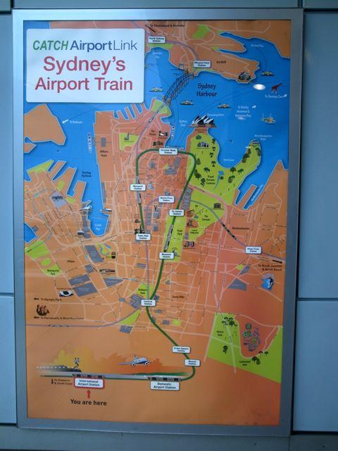 シドニー 空港から電車2