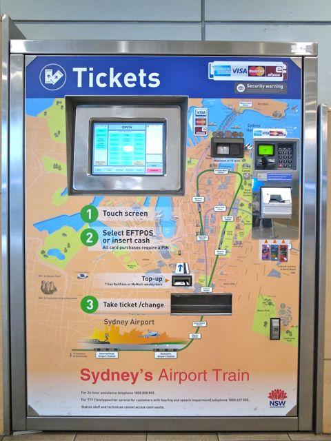 シドニー 空港から電車3
