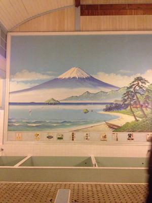 銭湯の背景画 富士山