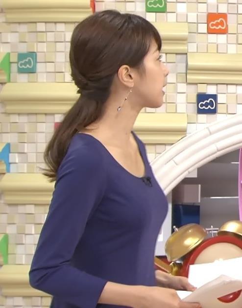 加藤綾子 薄着横乳
