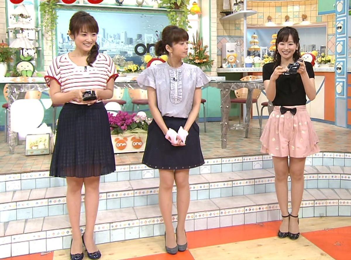 めざまし3人娘並んだミニスカート ミニスカートキャプ・エロ画像