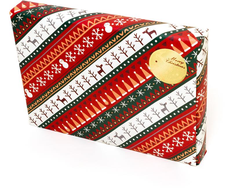 2014-11-08 Xmas包装ノルディック柄