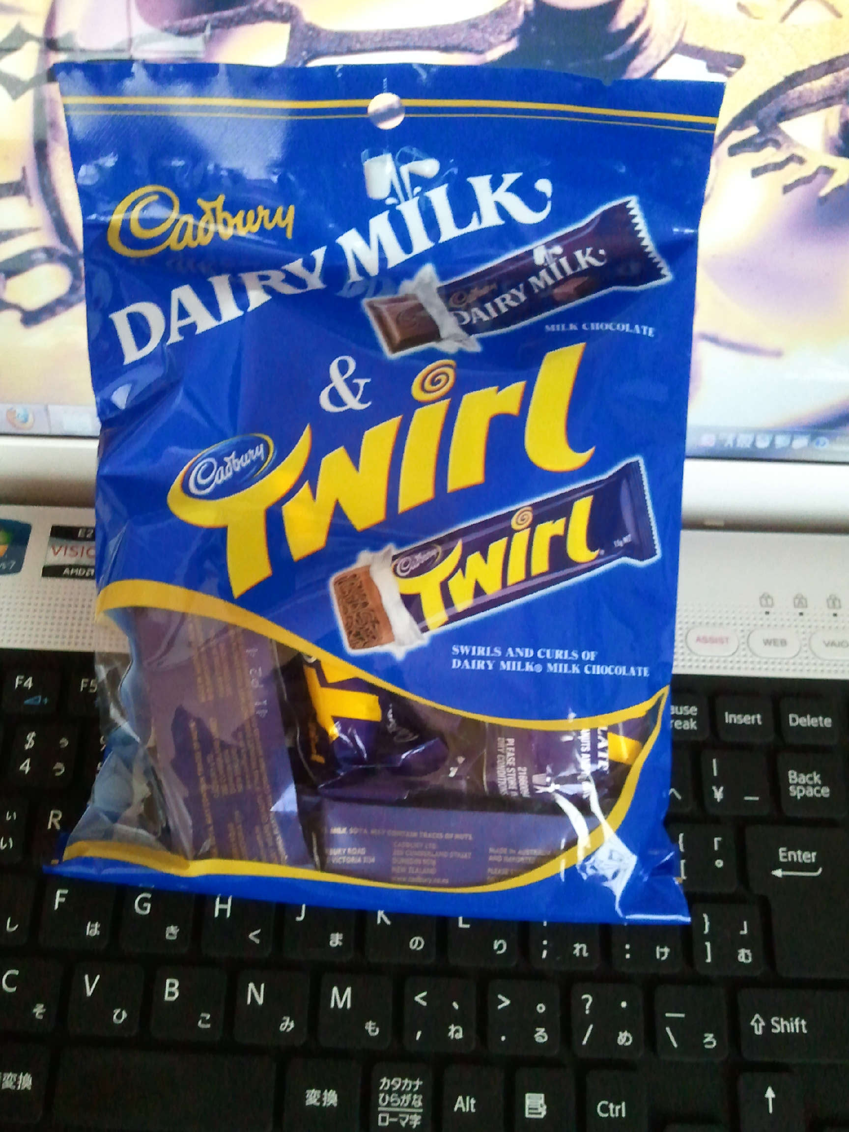 キャズベリーチョコ dairy milk とtwirl