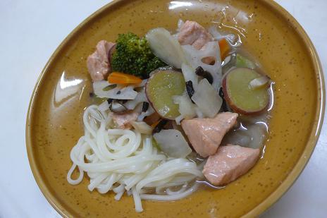 便秘解消!鮭と根菜のあんかけ