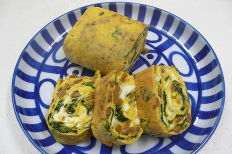 納豆と海苔の卵焼き