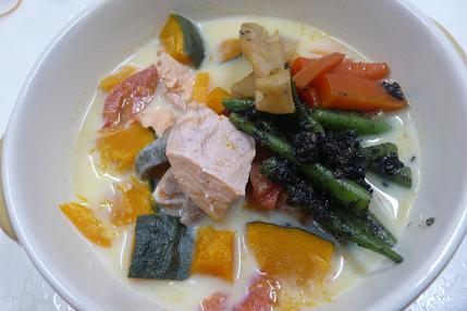 鮭(豆乳バージョン)