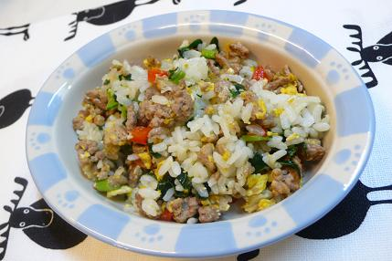 卵と豚ひき肉のチャーハン