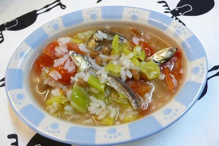 煮干しと納豆の雑炊