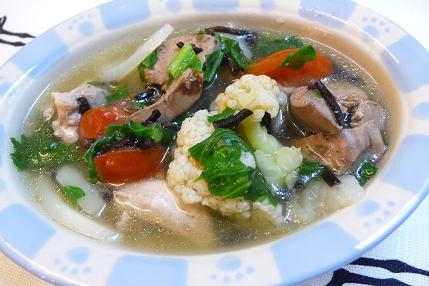 鶏レバーとかぶのスープ煮