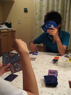 遊戯王対戦中