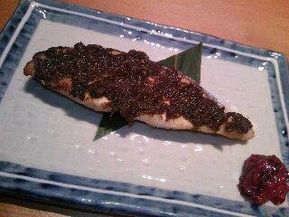 魚の蕗味噌焼き