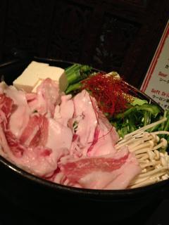 アグー豚の鍋