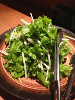 葉セロリのサラダ