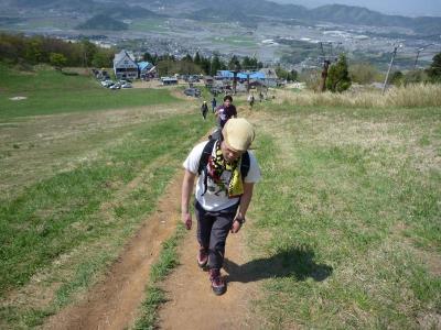 伊吹山3合目からの登り