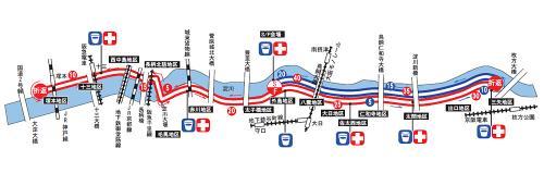 淀川マラソンコース図