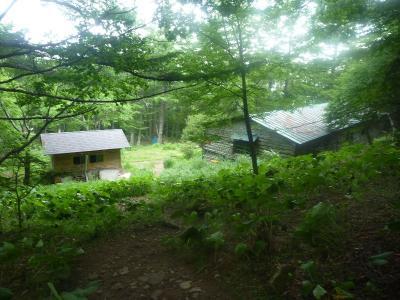 富士見平小屋到着