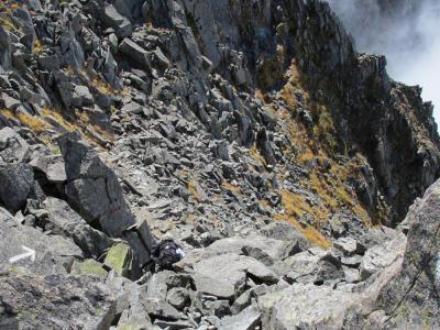 滝谷側の岩溝