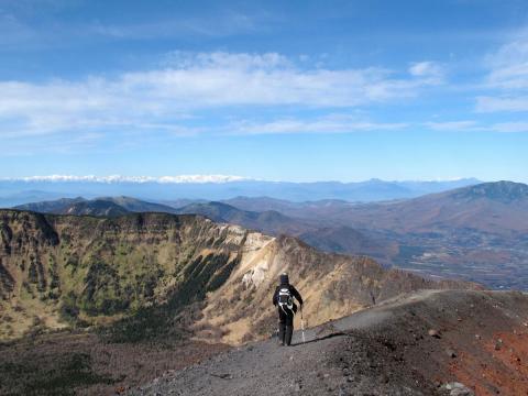 前掛山の稜線1