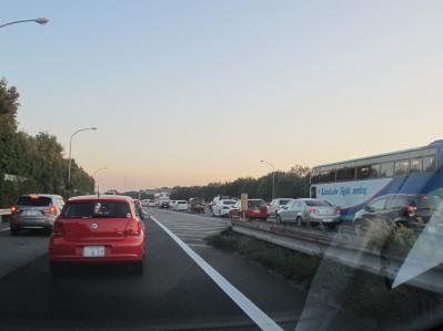 激しい渋滞