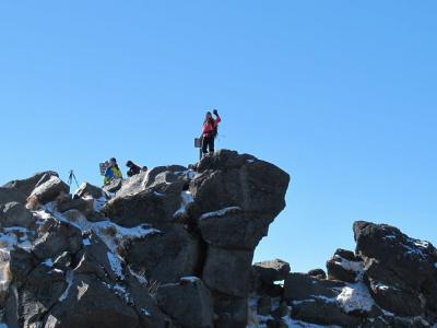 山頂で(^o^)丿