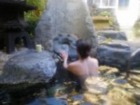 混浴風呂で