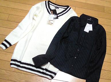 「GAL STAR(ギャルスター)」にて、チルデンニットとシャツを購入。