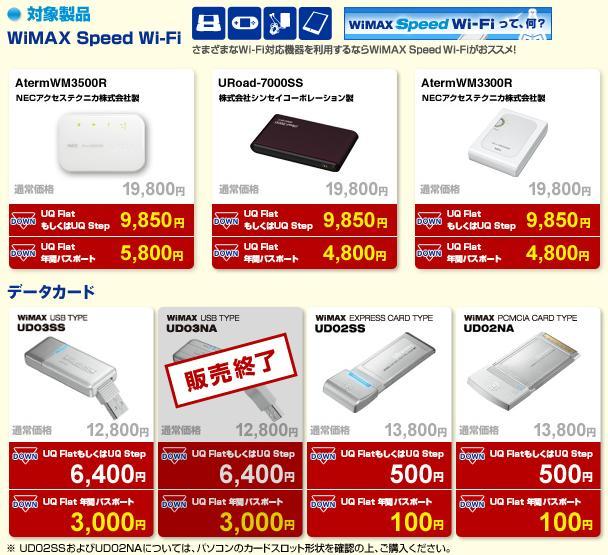 WiMAX 通常価格