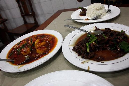 28麻婆豆腐と青椒肉絲