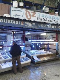 トラブゾン 市場の魚屋