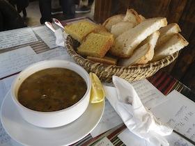 魚のスープ&パン