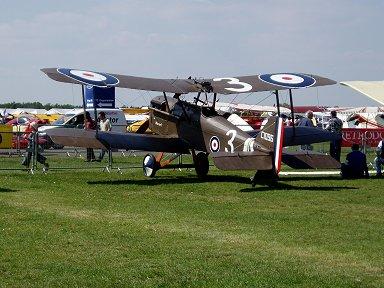 英空軍SE5戦闘機の後ろ姿Ferte Alais Air Showにてdownsize