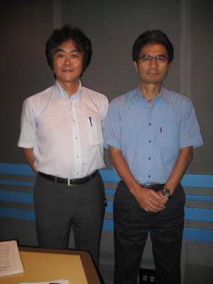 富澤一誠さんとNACK5スタジオにて